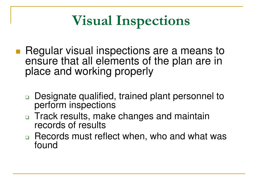 Visual Inspections