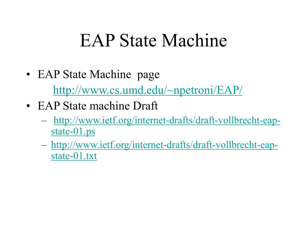 EAP State Machine