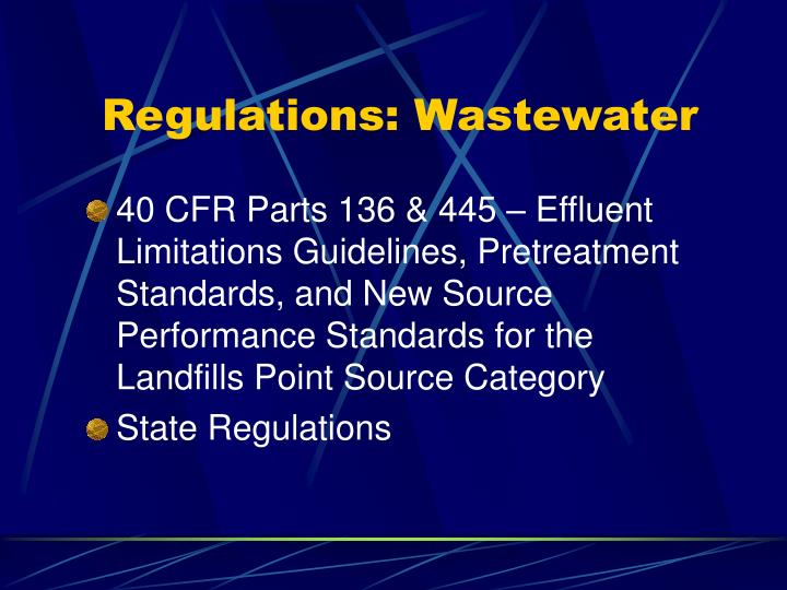 Regulations wastewater