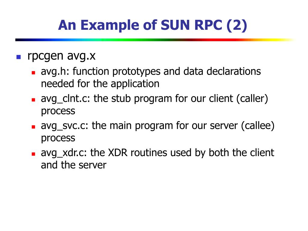 An Example of SUN RPC (2)