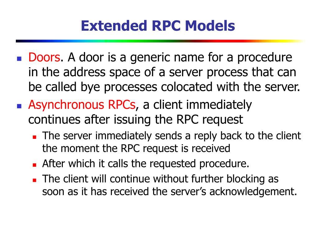 Extended RPC Models