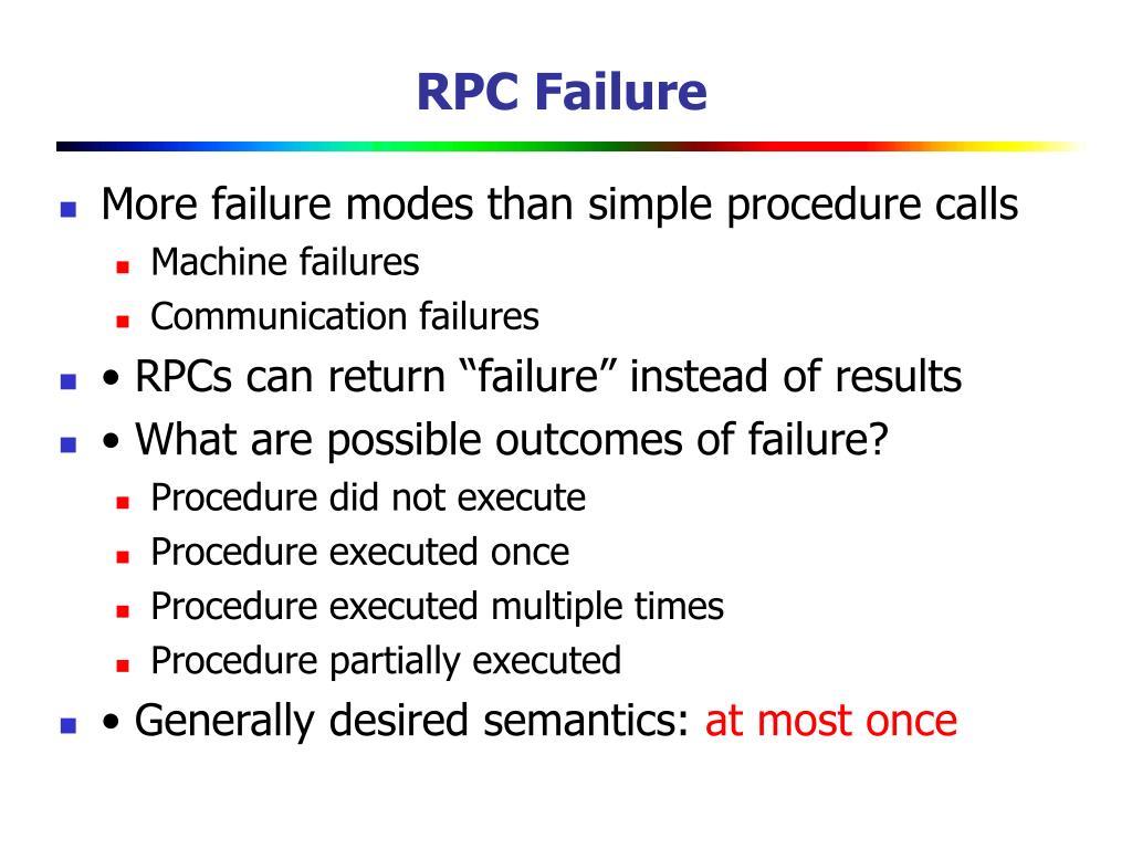 RPC Failure