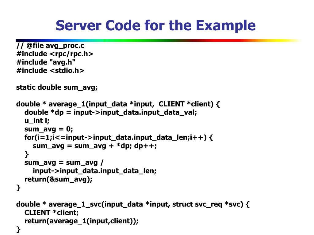 Server Code for