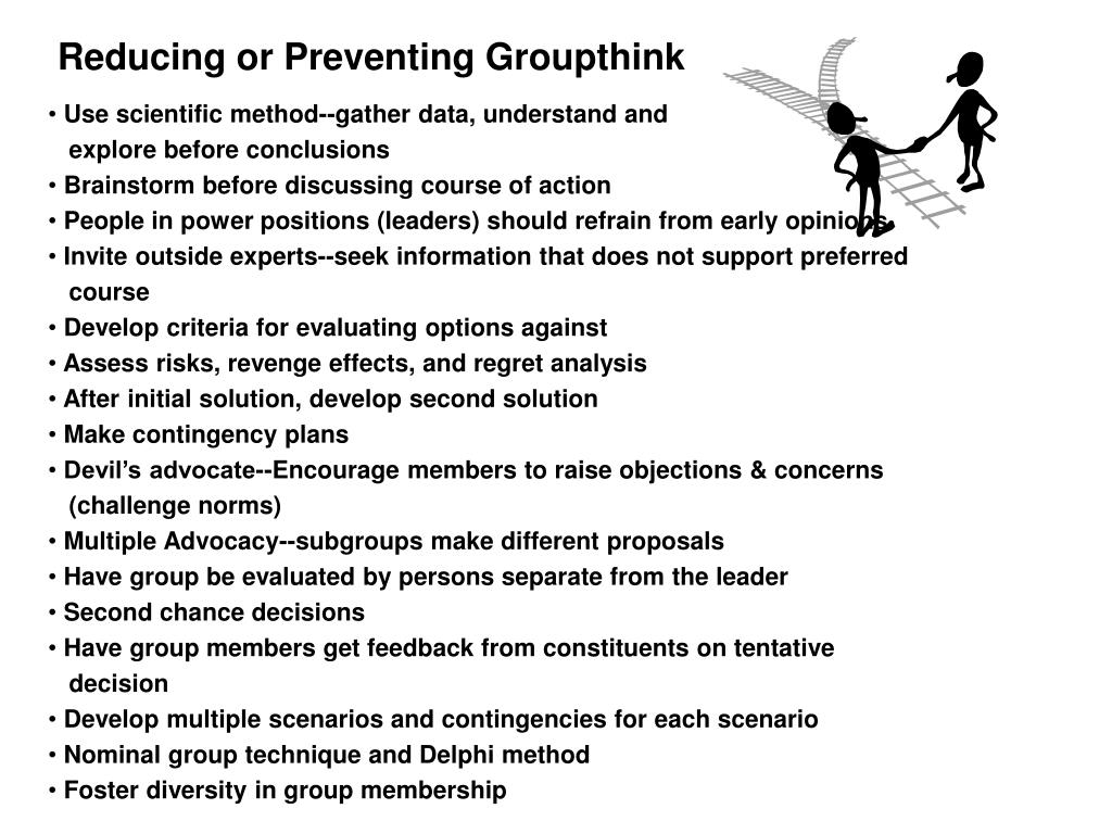 Reducing or Preventing Groupthink
