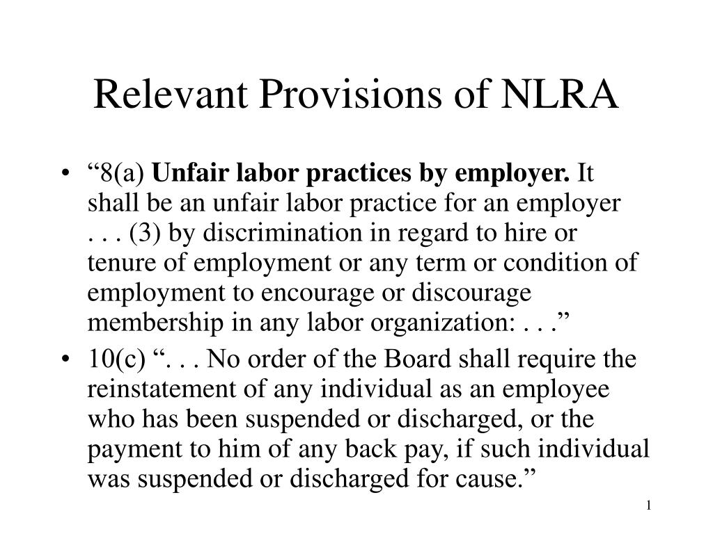 Relevant Provisions of NLRA