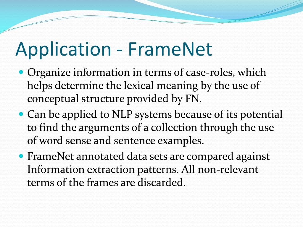 Application - FrameNet