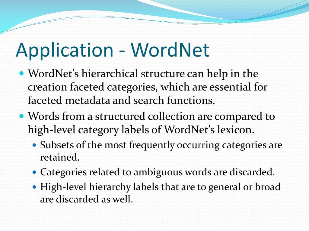 Application - WordNet