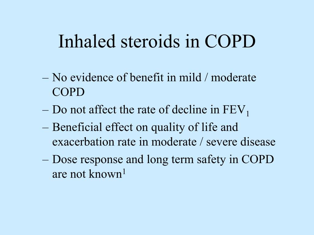 Inhaled steroids in COPD