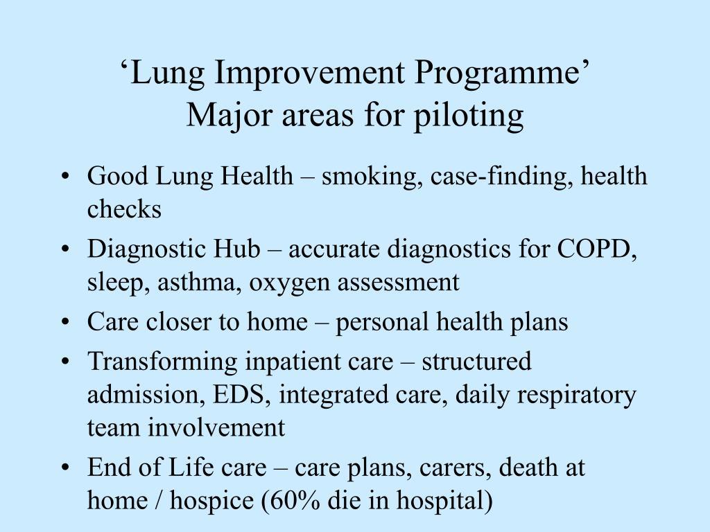 'Lung Improvement Programme'