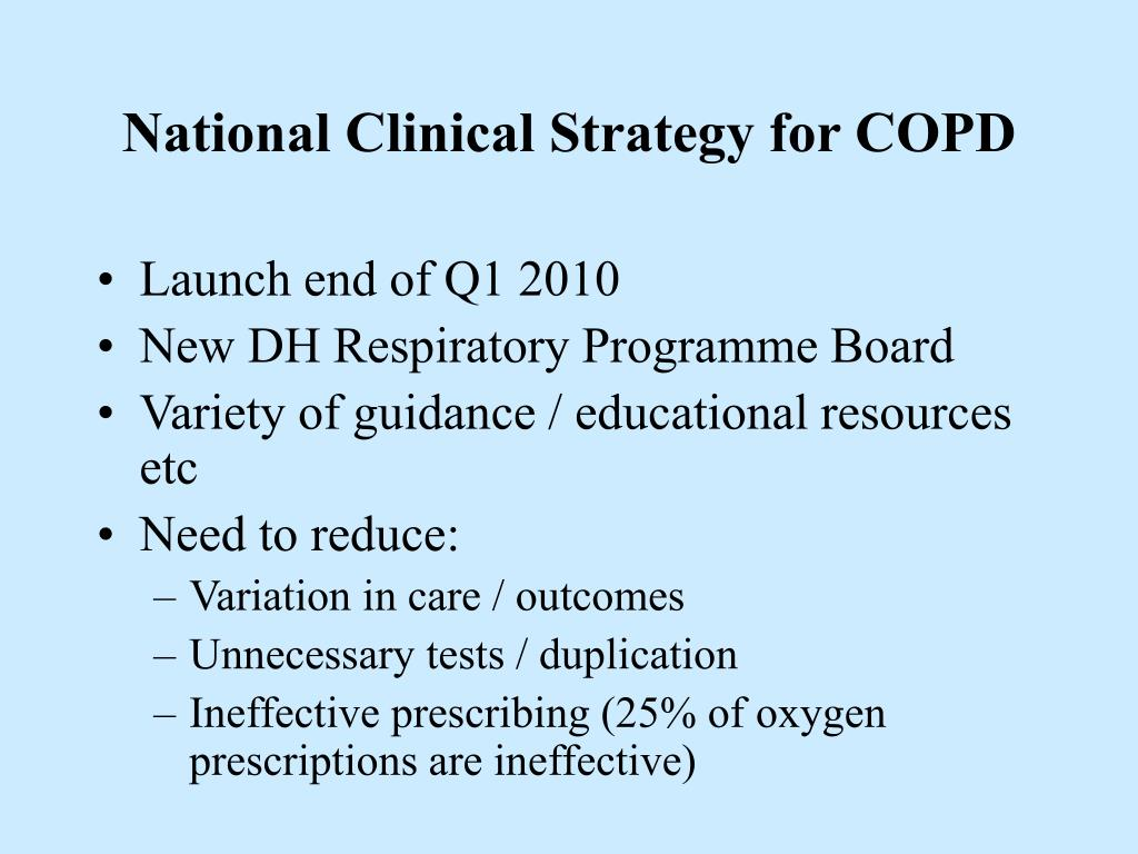 National Clinical Strategy for COPD