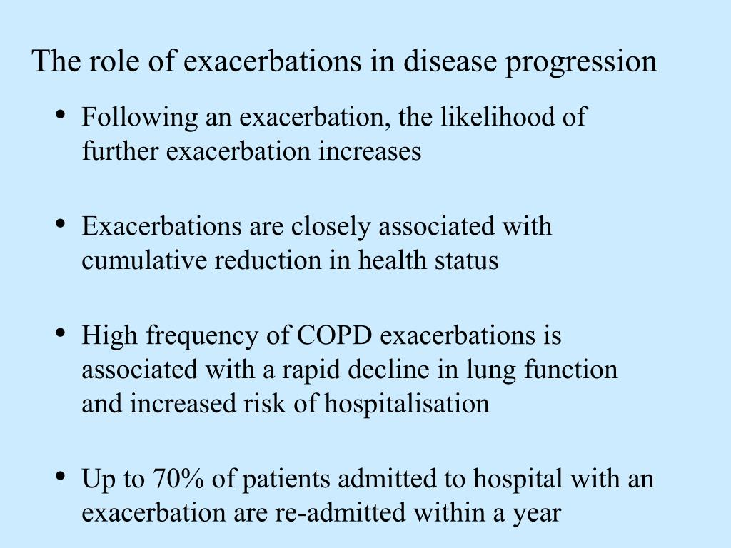 The role of exacerbations in disease progression