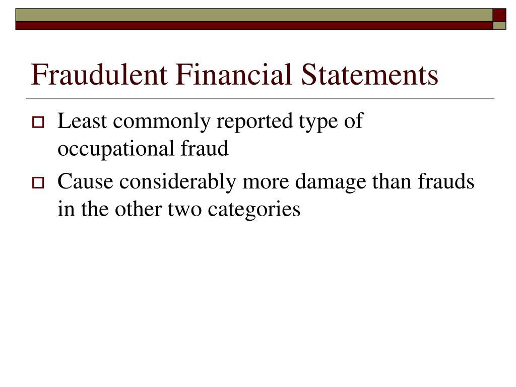 Fraudulent Financial Statements