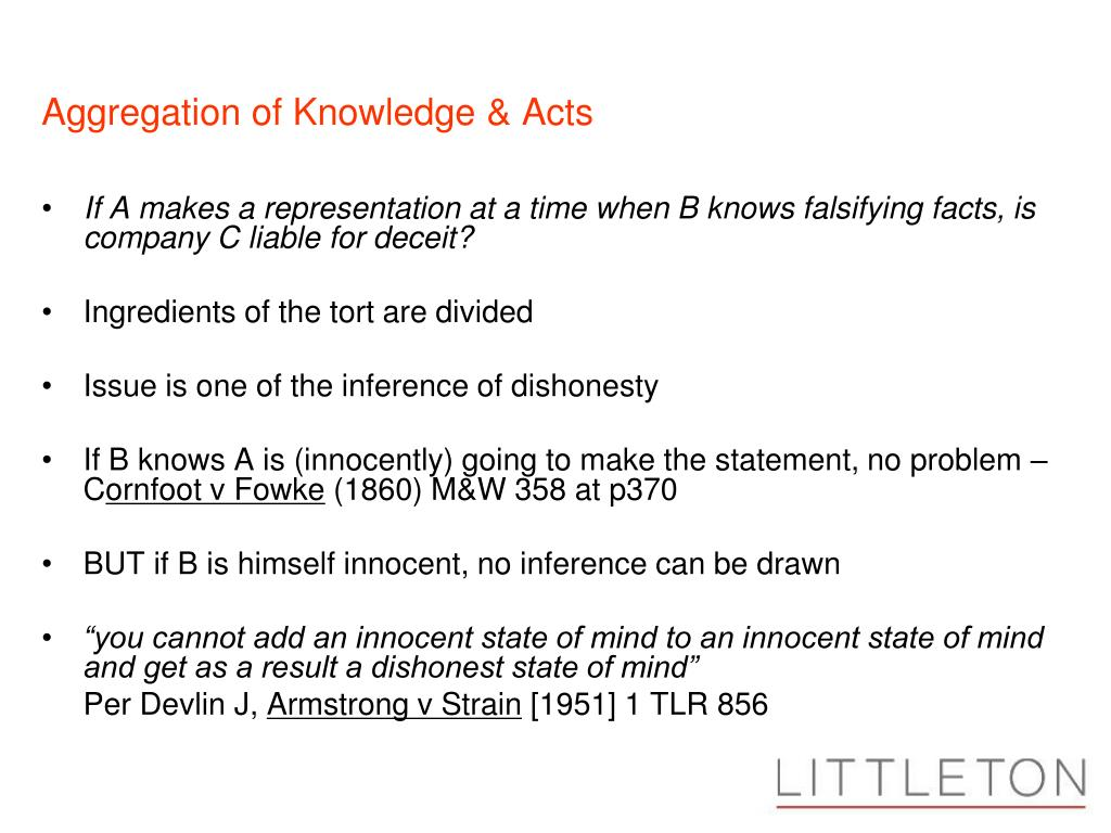 Aggregation of Knowledge & Acts