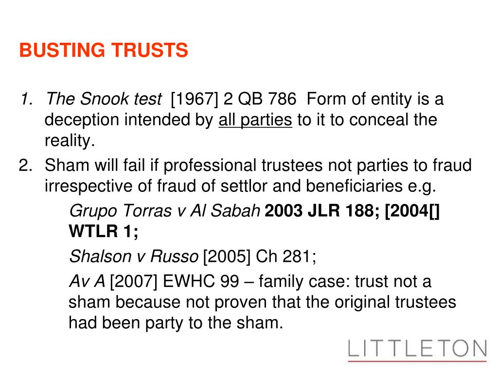 BUSTING TRUSTS