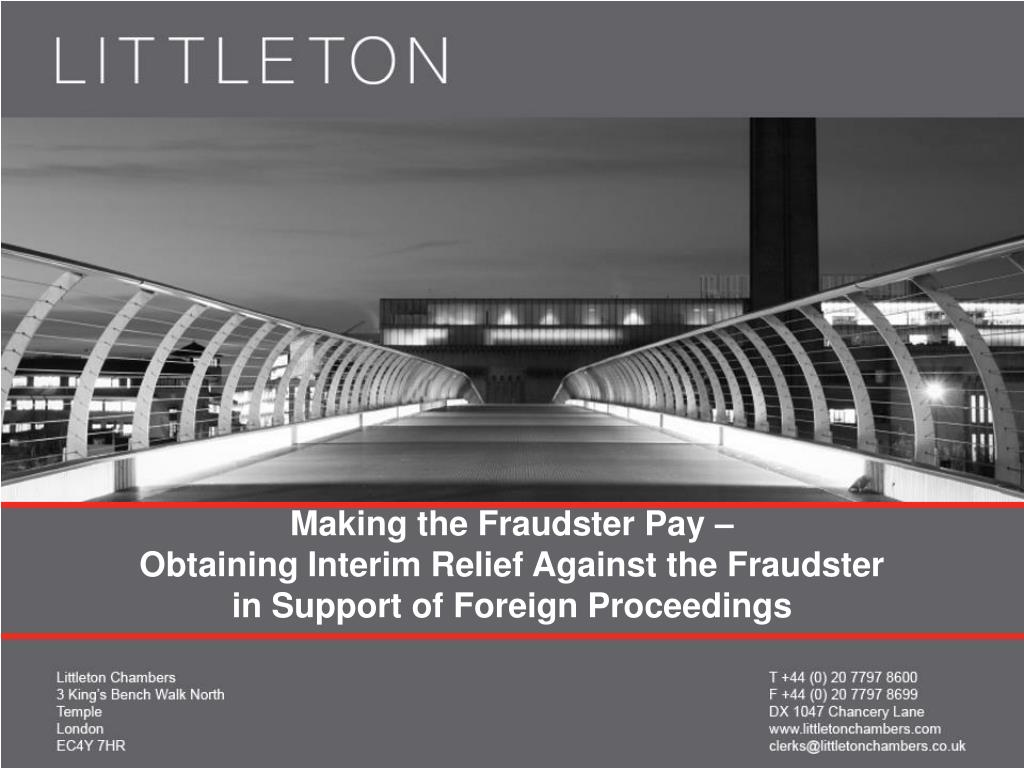 Making the Fraudster Pay –