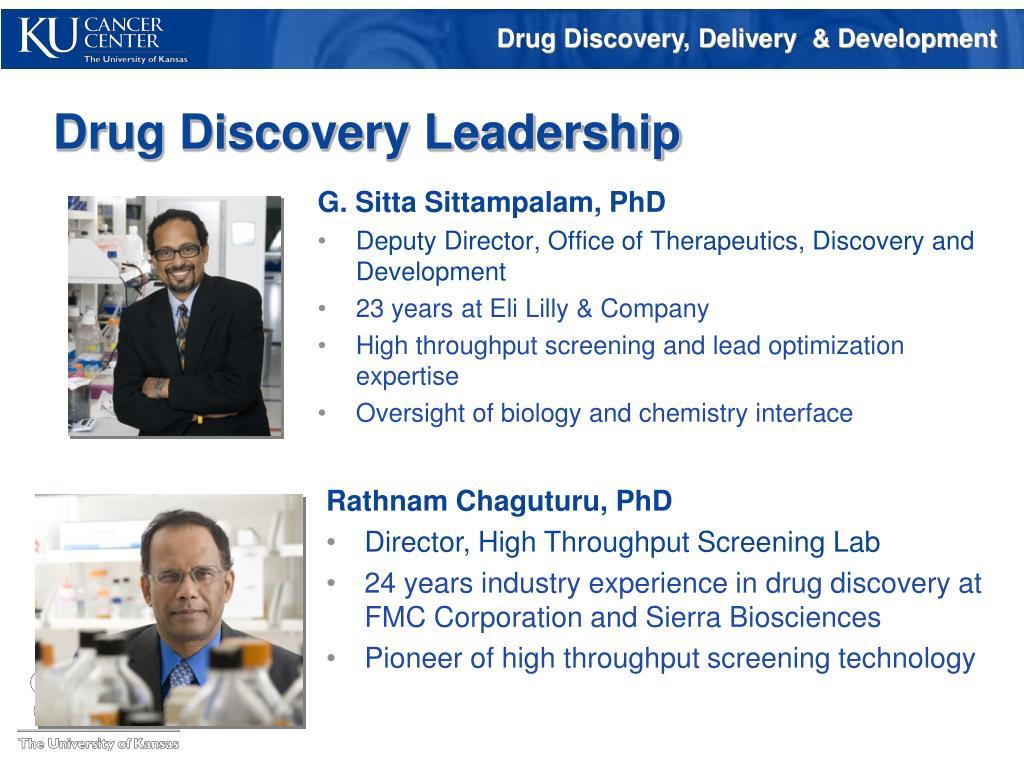 Drug Discovery Leadership