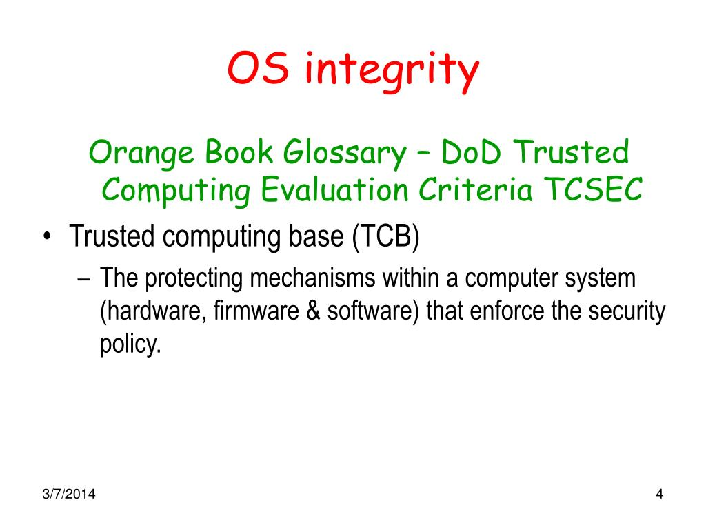 OS integrity