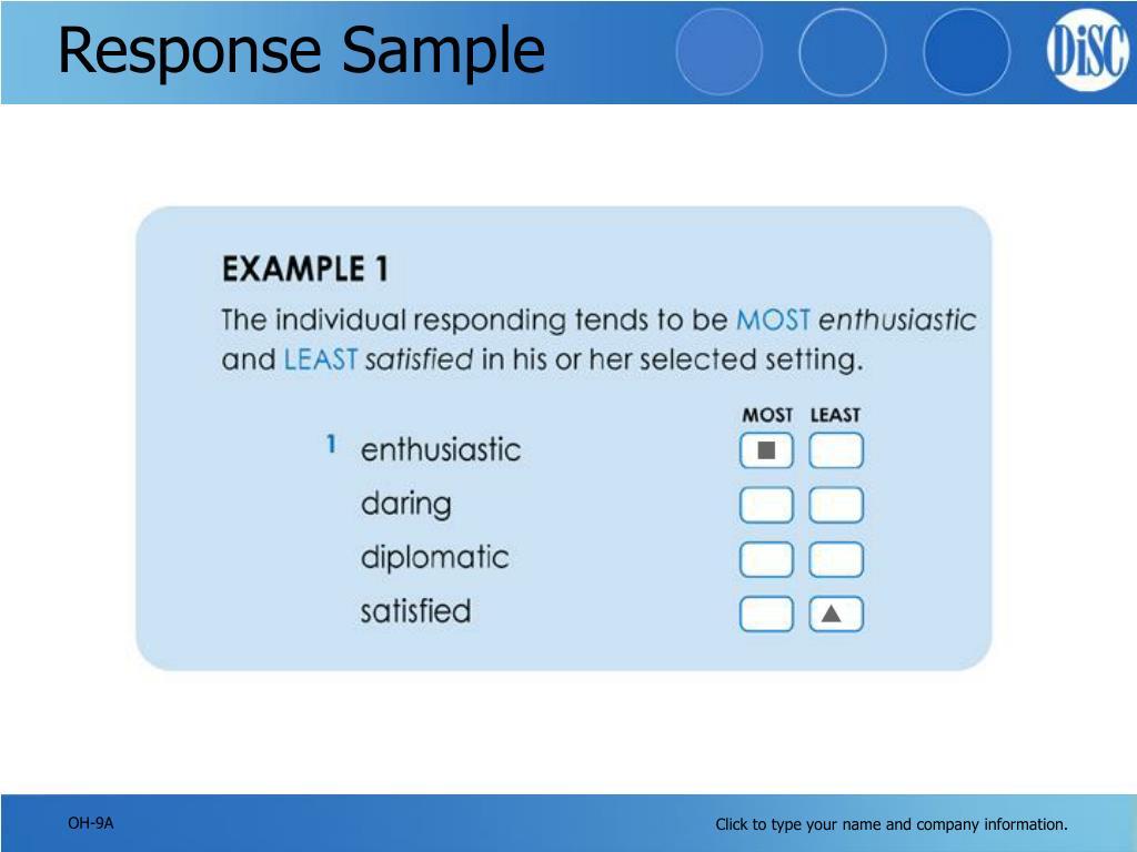 Response Sample
