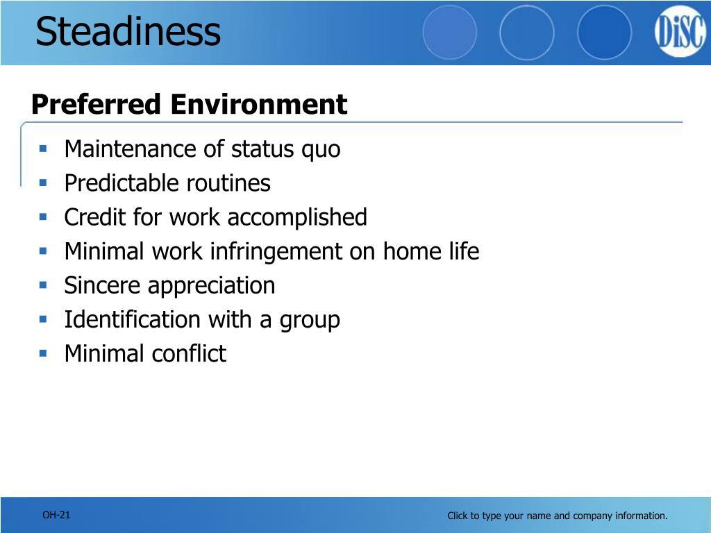 Steadiness
