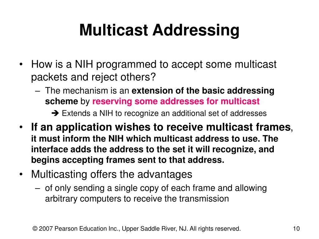 Multicast Addressing