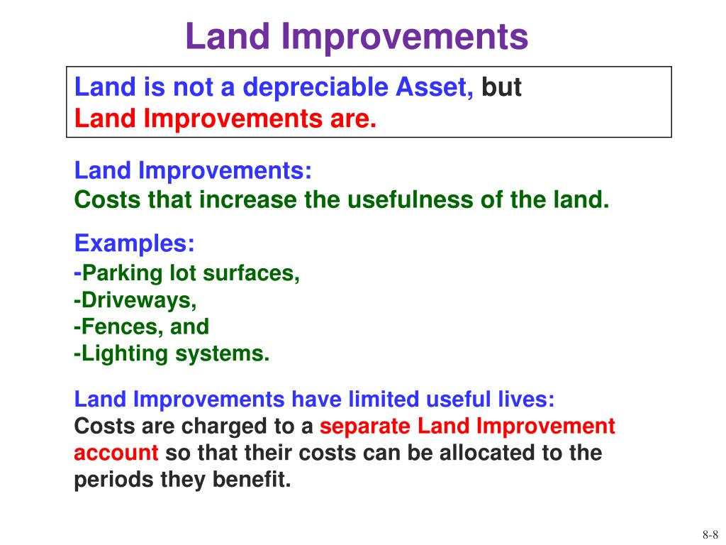 Land Improvements