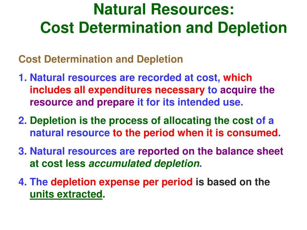 Natural Resources: