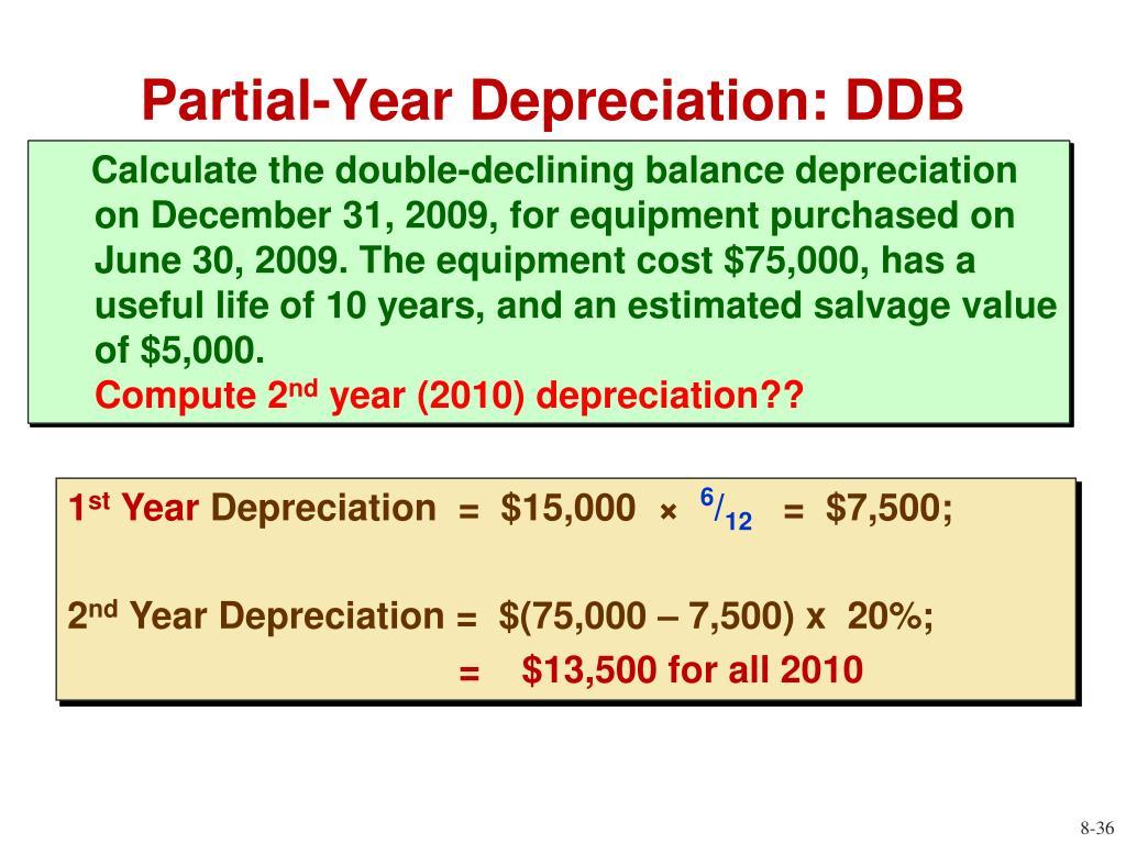 Partial-Year Depreciation: DDB