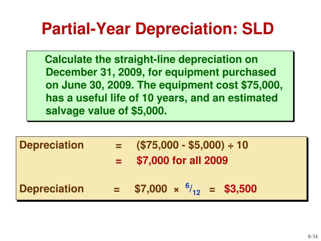 Partial-Year Depreciation: SLD