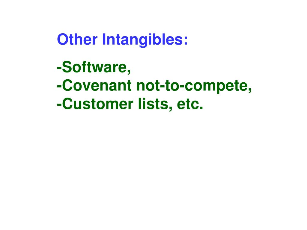 Other Intangibles: