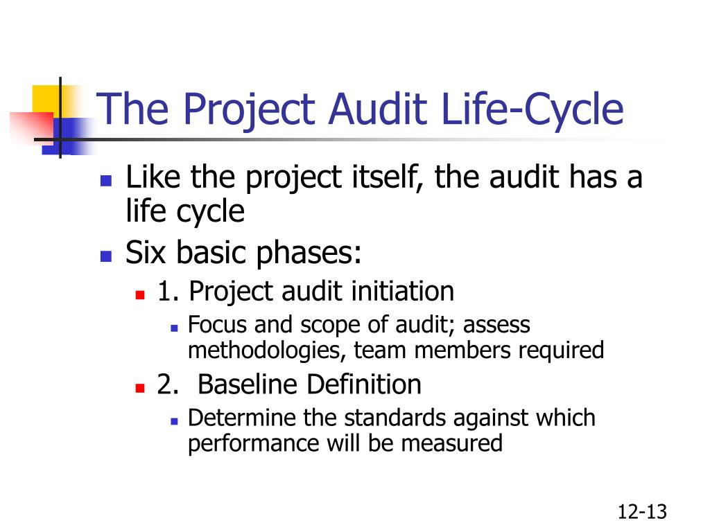 The Project Audit Life-Cycle