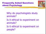 frequently asked questions about psychology3