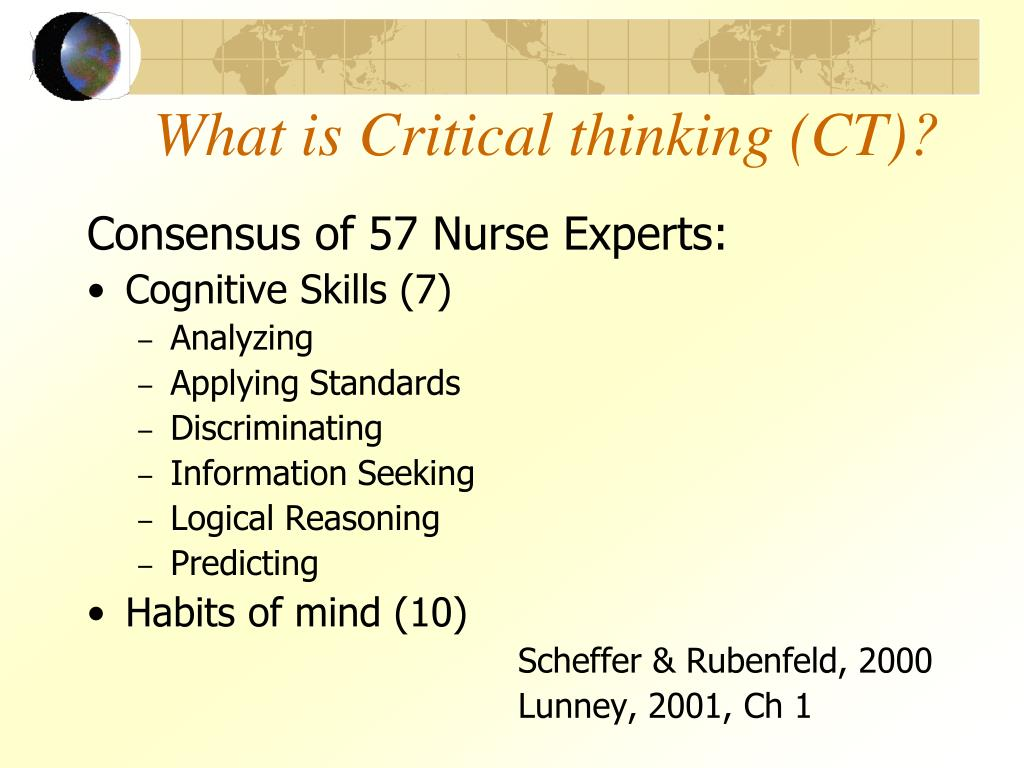 Theoretical model of critical thinking in diagnostic processes in nursing