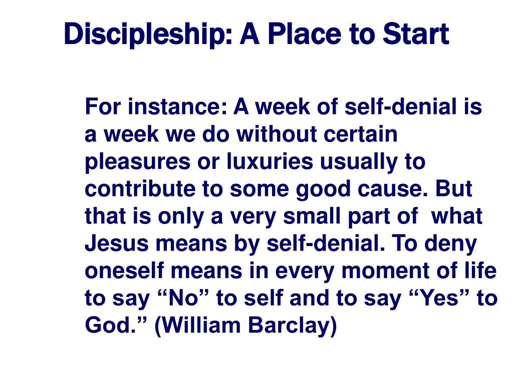 Discipleship: A Place to Start