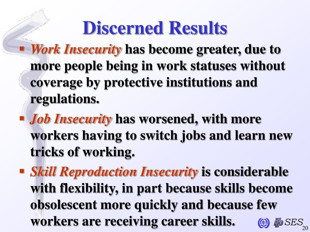 Discerned Results