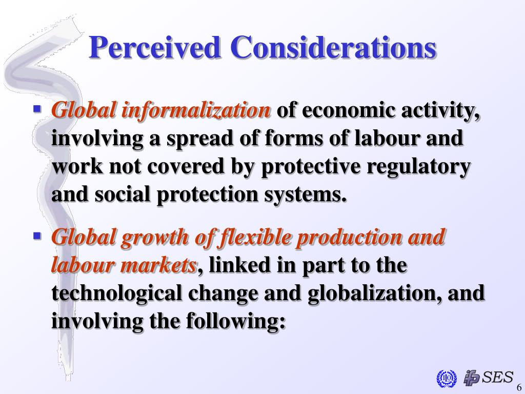 Perceived Considerations