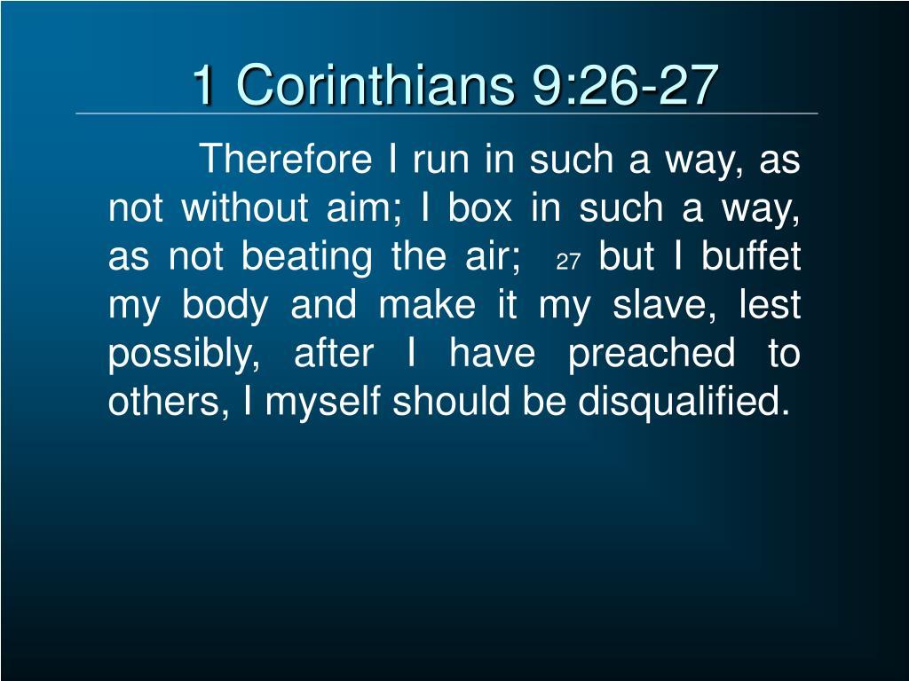 1 Corinthians 9:26-27