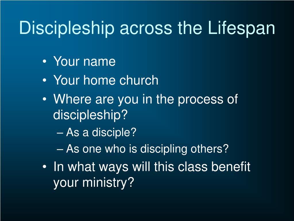 Discipleship across the Lifespan