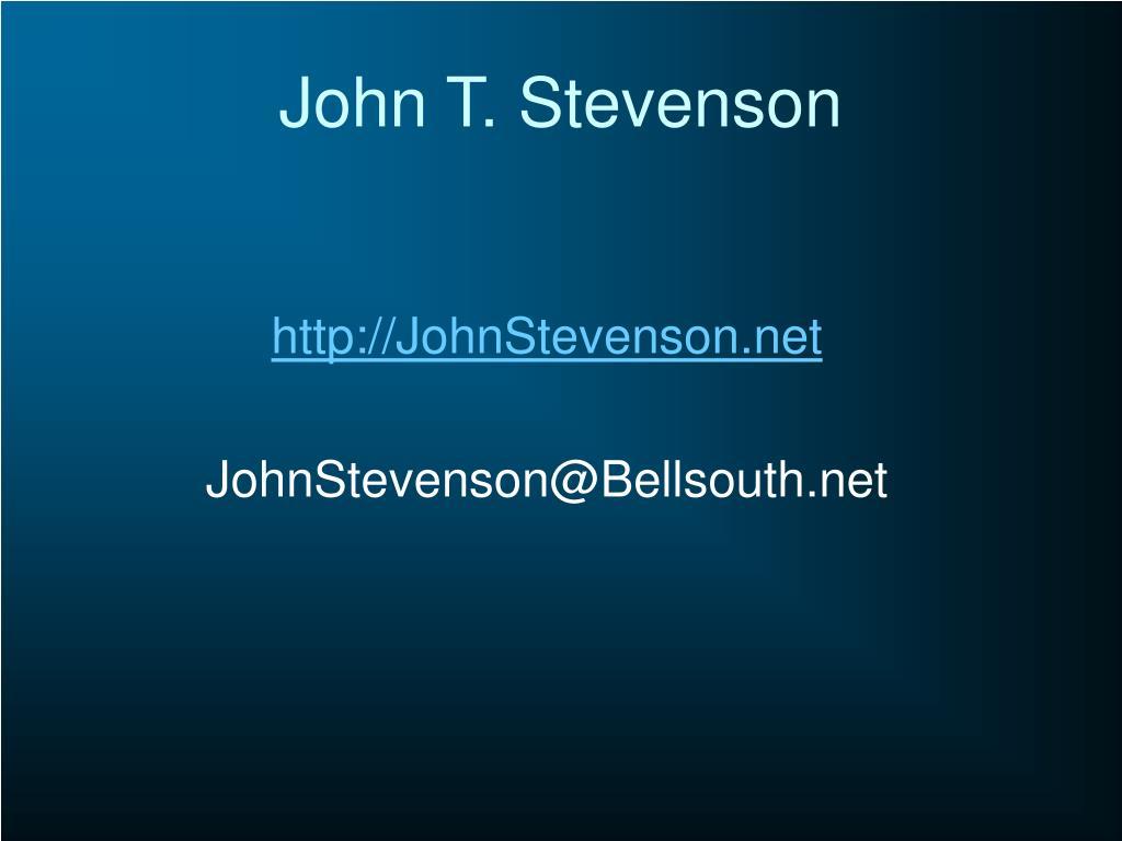 John T. Stevenson