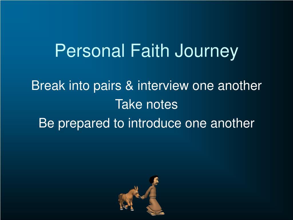 Personal Faith Journey