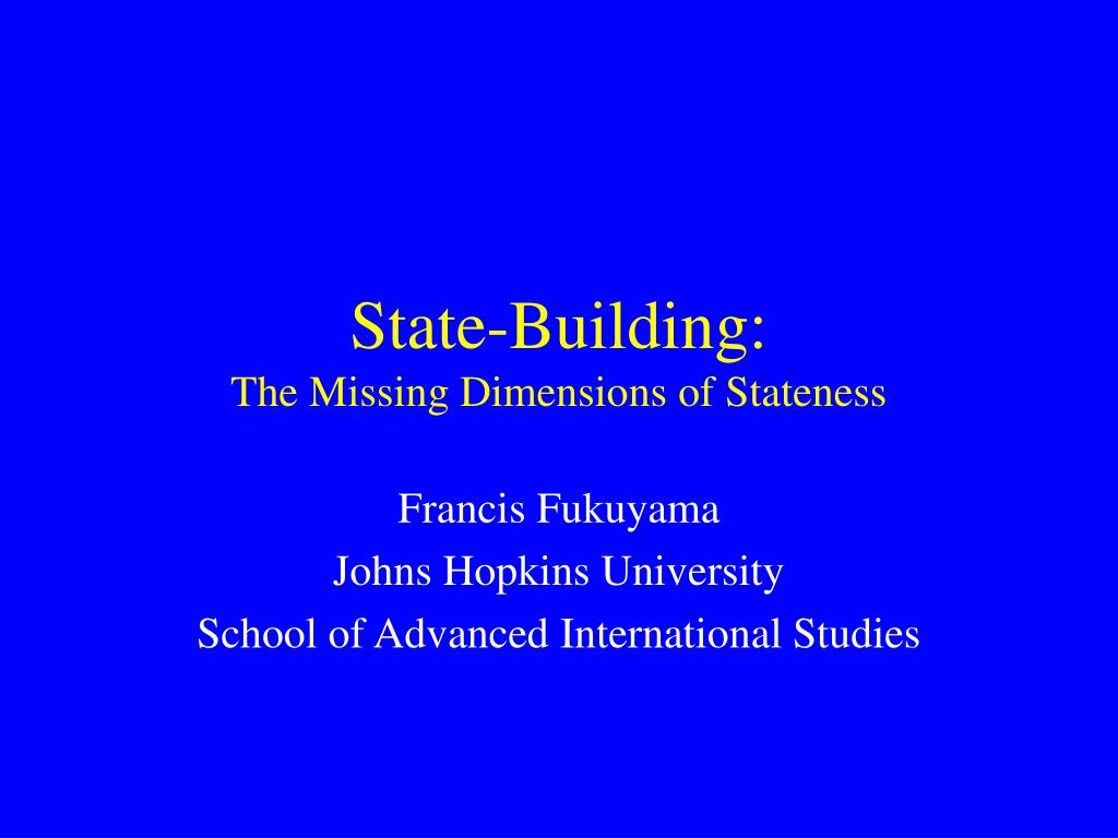 State-Building: