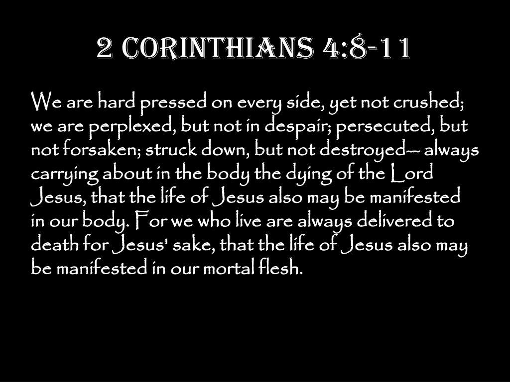 2 Corinthians 4:8-11