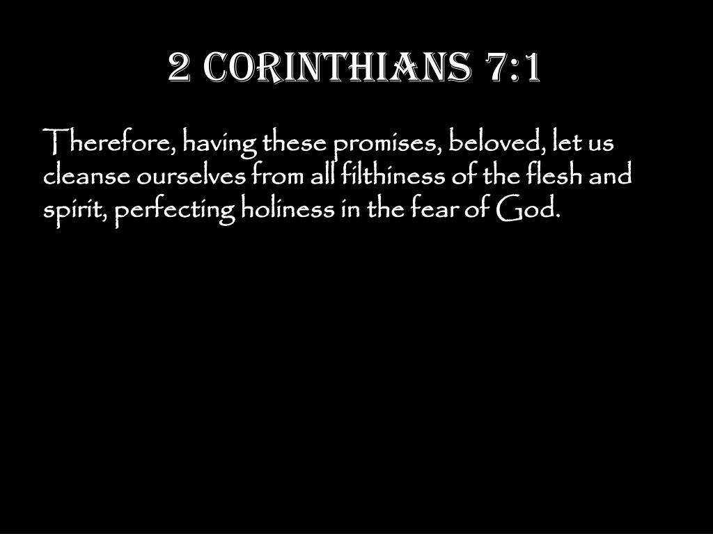 2 Corinthians 7:1