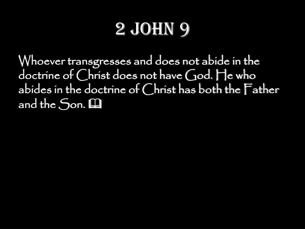 2 John 9