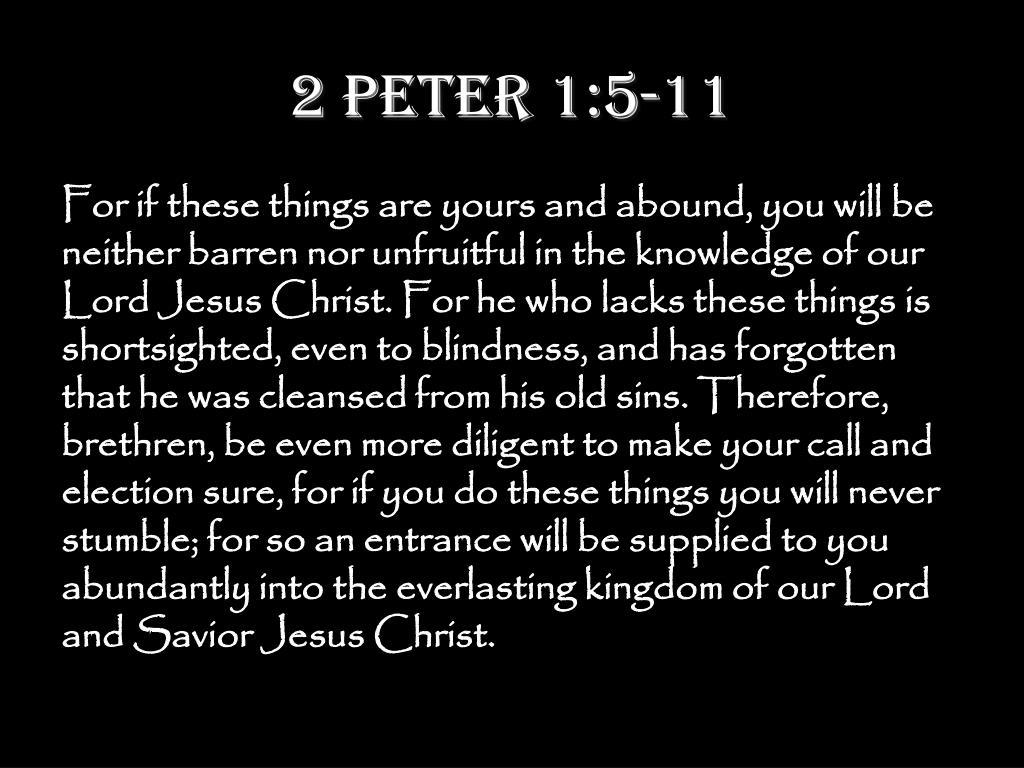 2 Peter 1:5-11