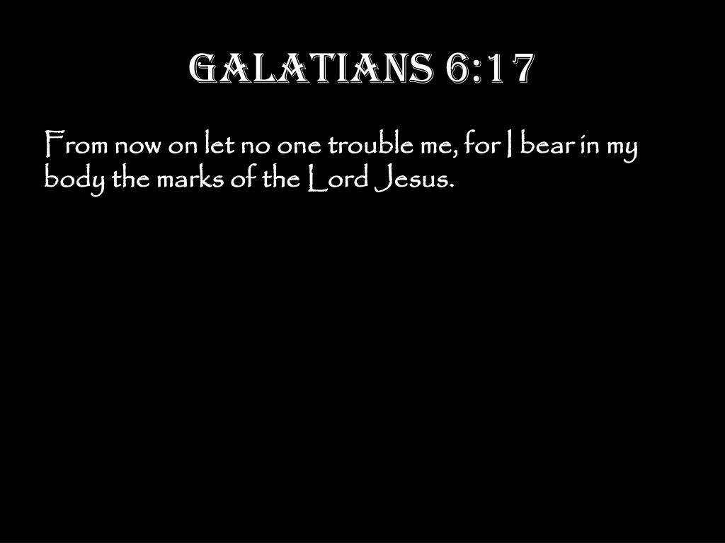 Galatians 6:17