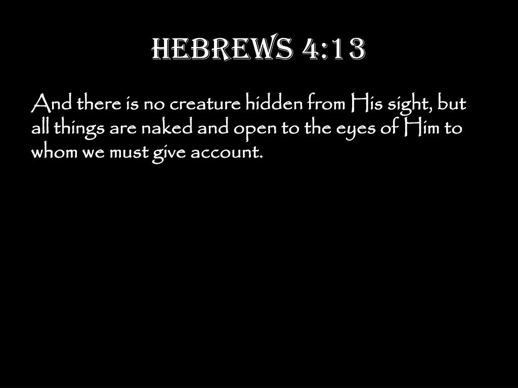 Hebrews 4:13