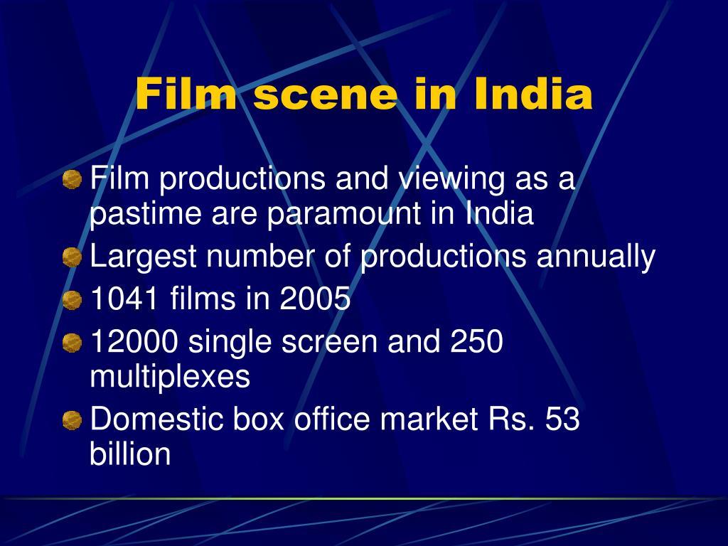 Film scene in India