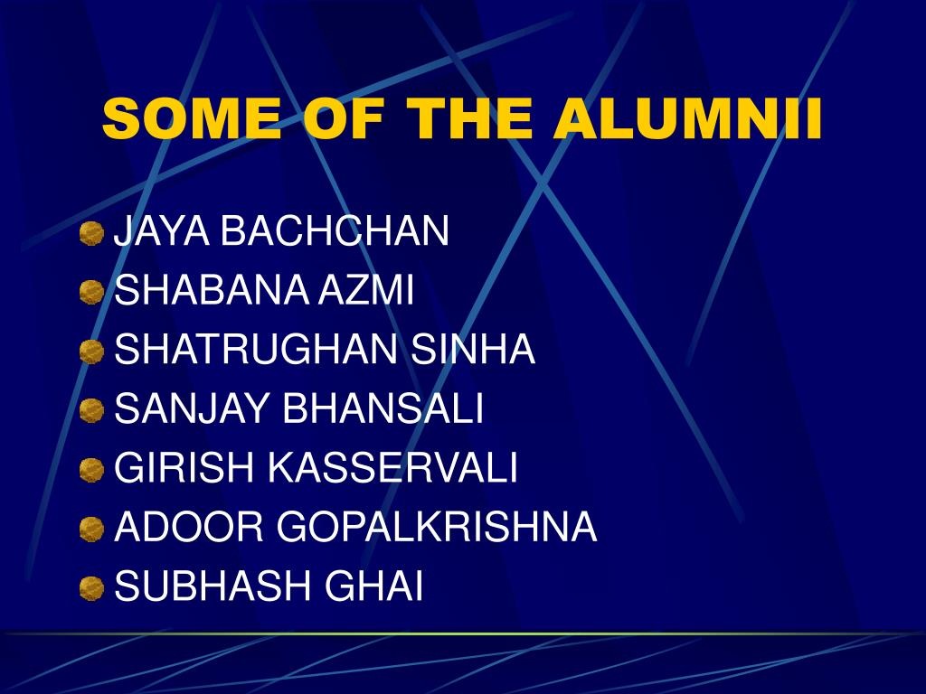 SOME OF THE ALUMNII