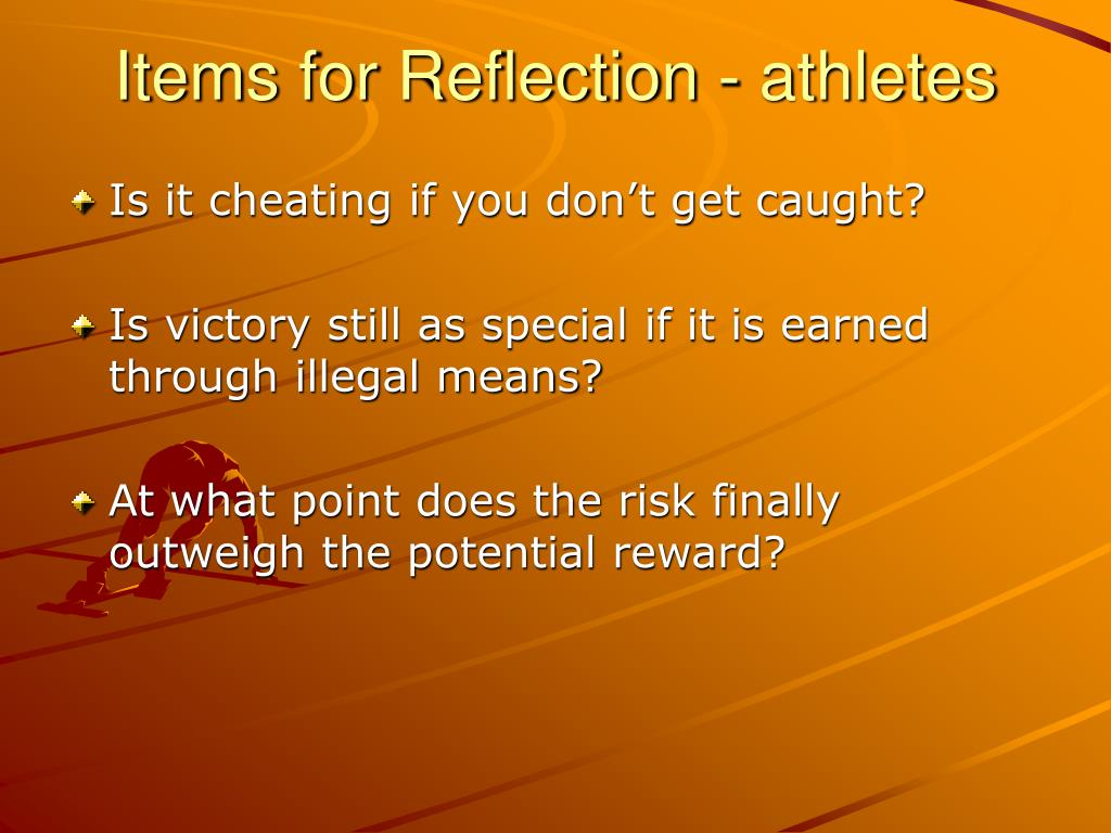 Items for Reflection - athletes