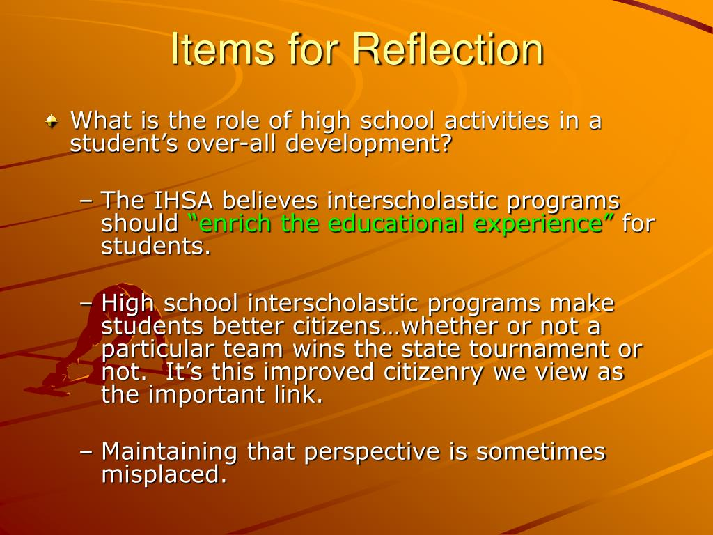 Items for Reflection